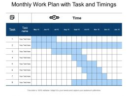 Monthly Work Plan With Task And Timings