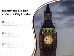 Monument Big Ben At Centre City London