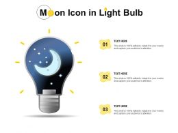 Moon Icon In Light Bulb