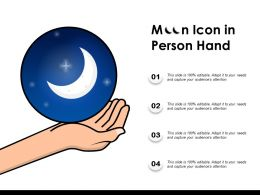 Moon Icon In Person Hand
