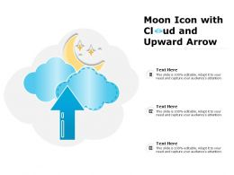 Moon Icon With Cloud And Upward Arrow