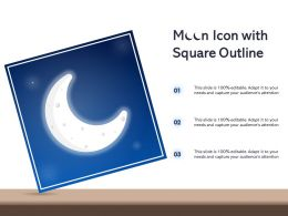 Moon Icon With Square Outline