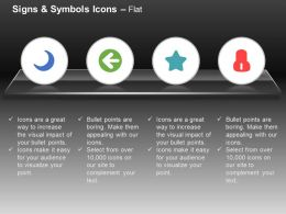 Moon Single Arrow Star Symbol Ppt Icons Graphics