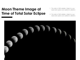 Moon Theme Image At Time Of Total Solar Eclipse