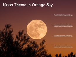 Moon Theme In Orange Sky