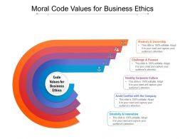 Moral Code Values For Business Ethics