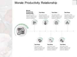 Morale Productivity Relationship Ppt Powerpoint Presentation Gallery Aids Cpb