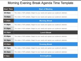 Morning Evening Break Agenda Time Template