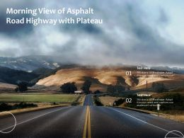 Morning View Of Asphalt Road Highway With Plateau