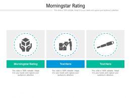 Morningstar Rating Ppt Powerpoint Presentation Summary Deck Cpb