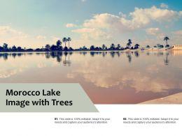 Morocco Lake Image With Trees