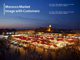 Morocco Market Image With Customers