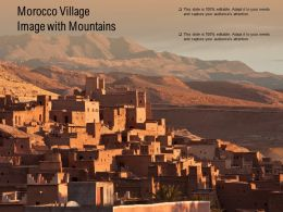 Morocco Village Image With Mountains