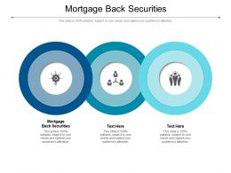 Mortgage Back Securities Ppt Powerpoint Presentation Styles Templates Cpb