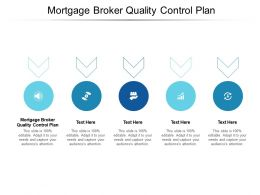 Mortgage Broker Quality Control Plan Ppt Powerpoint Presentation Ideas Images Cpb