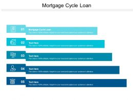 Mortgage Cycle Loan Ppt Powerpoint Presentation Diagram Templates Cpb