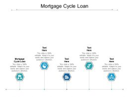 Mortgage Cycle Loan Ppt Powerpoint Presentation Icon Design Ideas Cpb