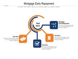 Mortgage Early Repayment Ppt Powerpoint Presentation File Clipart Cpb