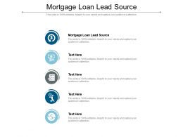 Mortgage Loan Lead Source Ppt Powerpoint Presentation Professional Design Templates Cpb