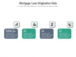 Mortgage Loan Origination Data Ppt Powerpoint Presentation Professional Design Ideas Cpb