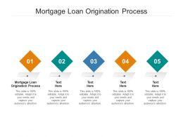 Mortgage Loan Origination Process Ppt Powerpoint Presentation File Slides Cpb