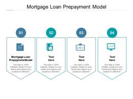 Mortgage Loan Prepayment Model Ppt Powerpoint Presentation Model Styles Cpb