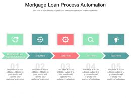 Mortgage Loan Process Automation Ppt Powerpoint Presentation Summary Example Cpb