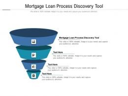 Mortgage Loan Process Discovery Tool Ppt Powerpoint Presentation Slides Styles Cpb