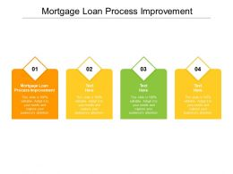 Mortgage Loan Process Improvement Ppt Powerpoint Presentation Styles Outline Cpb