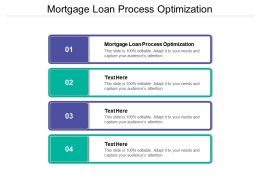 Mortgage Loan Process Optimization Ppt Powerpoint Presentation Summary Aids Cpb