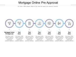 Mortgage Online Pre Approval Ppt Powerpoint Presentation Infographic Template Clipart Images Cpb