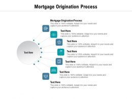 Mortgage Origination Process Ppt Powerpoint Presentation File Examples Cpb