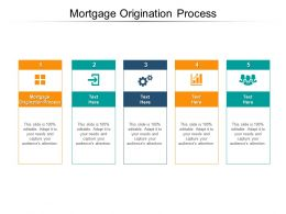 Mortgage Origination Process Ppt Powerpoint Presentation Guide Cpb