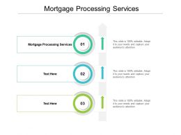 Mortgage Processing Services Ppt Powerpoint Presentation Professional Icons Cpb