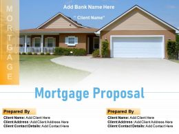 Mortgage Proposal Powerpoint Presentation Slides