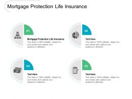 Mortgage Protection Life Insurance Ppt Powerpoint Presentation Infographic Template Layout Ideas Cpb