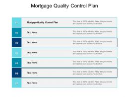 Mortgage Quality Control Plan Ppt Powerpoint Presentation Outline Images Cpb