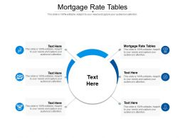 Mortgage Rate Tables Ppt Powerpoint Presentation File Brochure Cpb