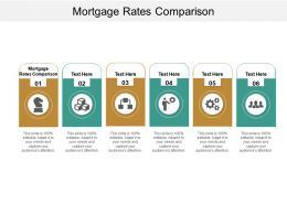 Mortgage Rates Comparison Ppt Powerpoint Presentation Show Icon Cpb