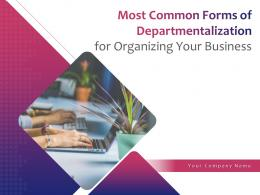 Most Common Forms Of Departmentalization For Organizing Your Business Powerpoint Presentation Slides
