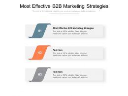 Most Effective B2B Marketing Strategies Ppt Powerpoint Presentation Ideas Portrait Cpb
