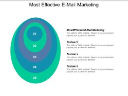 Most Effective E Mail Marketing Ppt Powerpoint Presentation Icon Graphics Pictures Cpb