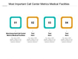 Most Important Call Center Metrics Medical Facilities Ppt Powerpoint Presentation Slides Sample Cpb