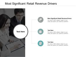 Most Significant Retail Revenue Drivers Ppt Powerpoint Presentation Pictures Sample Cpb