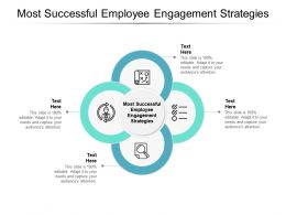 Most Successful Employee Engagement Strategies Ppt Powerpoint Presentation Icons Cpb