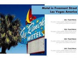 Motel In Freemont Street Las Vegas America