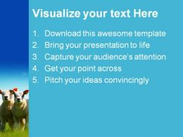 Mother And Kids Animals PowerPoint Template 1110  Presentation Themes and Graphics Slide02