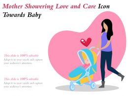 Mother Showering Love And Care Icon Towards Baby