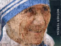 Mother Teresa Photo Mosaic Tribute Leader Saint