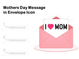 Mothers Day Message In Envelope Icon